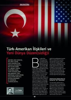 Türk-Amerikan İlişkileri ve Yeni Dünya Düzen(sizliğ)i